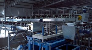 Feeding block making machine by belt conveyor